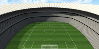 Soccer Stadium Day Stock Photo