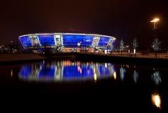 Soccer stadium Donbass-Arena. Night winter shot stadium Donbass Arena Stock Photo