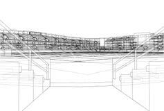 Soccer Stadium or Football Arena Concept. Vector