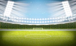 Soccer Stadium. Football Arena. Royalty Free Stock Images