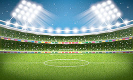 Soccer Stadium. Football Arena. Stock Photography