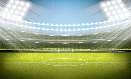 Soccer Stadium. Football Arena. Vector Illustration Stock Photo