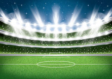 Soccer Stadium. Football Arena. Vector Illustration Royalty Free Stock Photo
