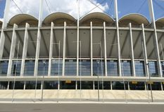 Soccer stadium front view 1 Royalty Free Stock Image