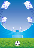 Soccer stadium and goal. Stock Image