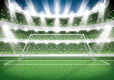 Soccer Stadium. Goal Post. Football Arena. Vector Illustration Royalty Free Stock Photos