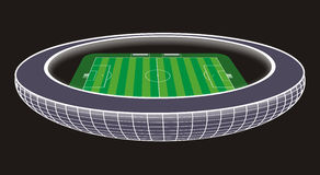 Soccer Stadium illustration. Illustration of an soccer stadium in wide angle perspective Stock Photos