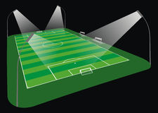 Soccer Stadium illustration. Illustration of an soccer stadium in wide angle perspective Royalty Free Stock Image