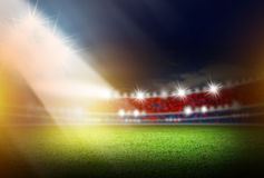 Soccer stadium with light Royalty Free Stock Image