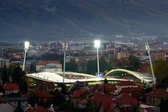 Soccer Stadium Ljudski vrt in Maribor Stock Image
