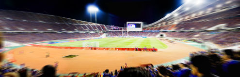 soccer stadium match Stock Image