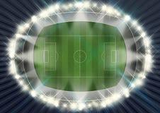 Soccer Stadium Night Royalty Free Stock Photo