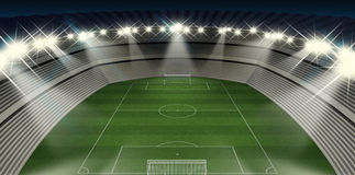Soccer Stadium Night Royalty Free Stock Image