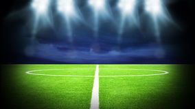 Soccer stadium night Stock Images