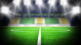 Soccer stadium night Stock Photography