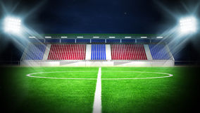 Soccer stadium night Stock Image