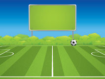 Soccer Stadium. Outdoor Soccer Stadium.Vector Illustration Stock Image