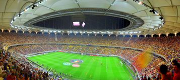 Soccer stadium: Romanian National Arena opening Stock Photography