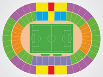 Soccer stadium scheme. With zone Royalty Free Stock Image