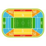 Soccer stadium scheme with zone Stock Photo