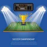 Soccer stadium with scoreboard Stock Photo