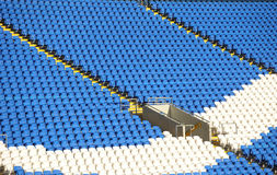 Soccer stadium seating Stock Image