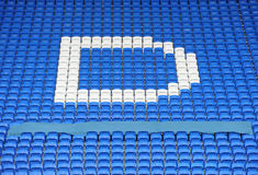 Soccer stadium seating Stock Photo