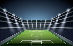 Soccer Stadium with spot lights. Stock Photography