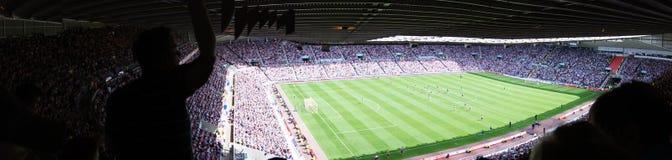 Soccer Stadium - Sunderland Stadium of Light. View from inside the English Premier League ground, Sunderland Stadium of Light Stock Photo