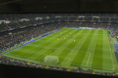 Soccer stadium tilt shift Stock Photography