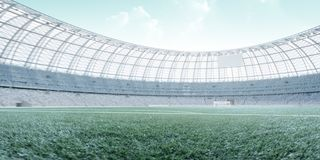 Soccer stadium,turquoise and hi-key toning photorealistic 3d illustration,3d render. Soccer stadium,turquoise and hi-key toning photorealistic 3d illustration vector illustration