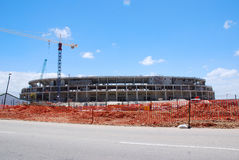 Soccer stadium unfinished Stock Photo