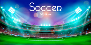 Soccer stadium vector design Royalty Free Stock Photography