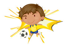 Soccer star. Illustration of a young soccer boy Stock Images