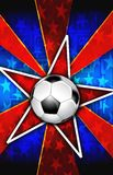 Soccer Star burst Red Stock Photo