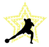Soccer star concept Stock Image