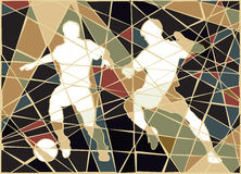 Soccer stars mosaic Stock Photo