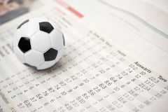 Soccer stats Stock Photography