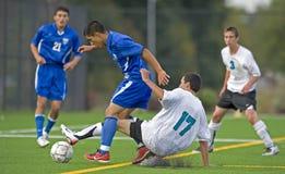 Soccer Stealing the ball stock photos