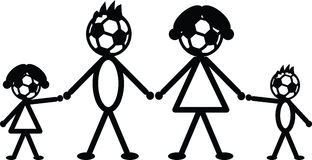 Soccer stick family Royalty Free Stock Photography