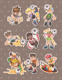 Soccer stickers Stock Photo