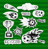 Soccer stickers Royalty Free Stock Photo