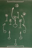Soccer strategy. On the blackground Stock Images
