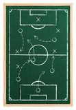 Soccer strategy. On blackboard isolated Royalty Free Stock Images