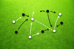 Soccer strategy concept abstract player background Royalty Free Stock Photos