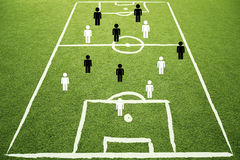 Soccer strategy play plan sketch background Royalty Free Stock Photos