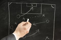 Soccer strategy schema Stock Image