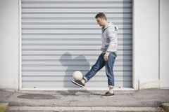 Soccer street player Stock Photography