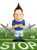 Soccer strong defender Stock Image