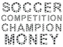 Soccer style words Royalty Free Stock Images